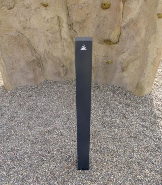 Stilpoller Vierkant Stahl 100 x 100 Pfosten Farbe DB 703 ortsfest