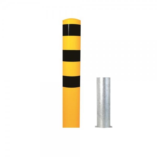Stahlrohrpoller herausnehmbar Ø193mm Stahlpoller Werkschutz Poller