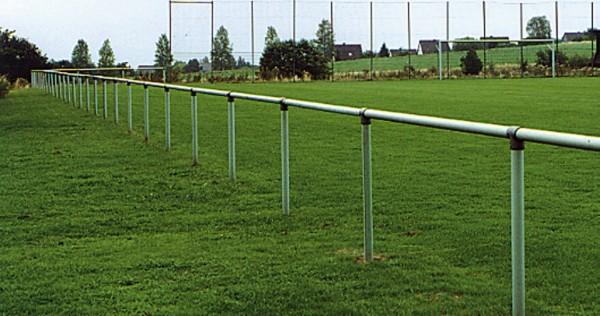 Barriere Sperrschutz Geländer System aus Stahlrohr Größe variabel
