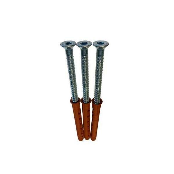 Schrauben Satz Typ 1VA 3 Stück 10 x 100 mit Kunststoffdübeln