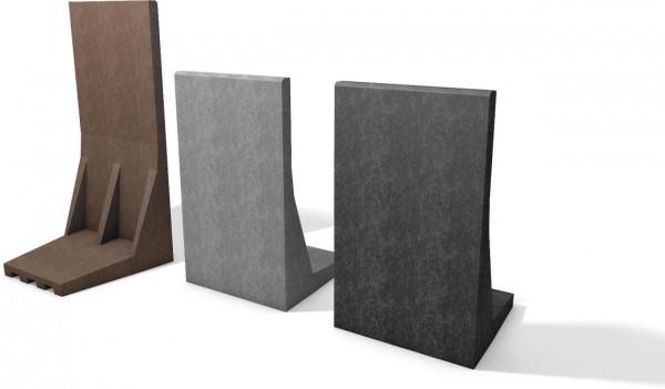 L - Stein aus Recycling Kunststoff Winkelstein Stein in L Form