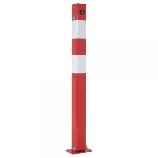Absperrpfosten umlegbar Dübelbefestigung Dreikant 8mm Stahl 70x70