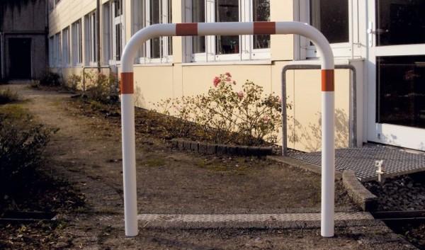 Abweisebügel Stahlrundrohr Ø 60mm ohne Querholm zum Aufdübeln
