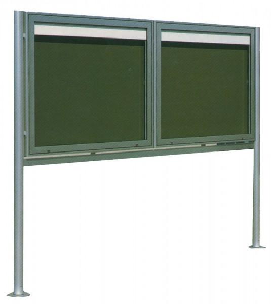 Ständer für Schaukästen Fabrikat Saebel Aluminium Rundrohr Ø 78 mm