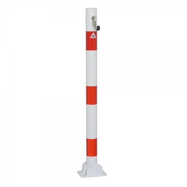 Absperrpfosten Ø 60 umlegbar Dübelbefestigung Profilzylinder Stahl
