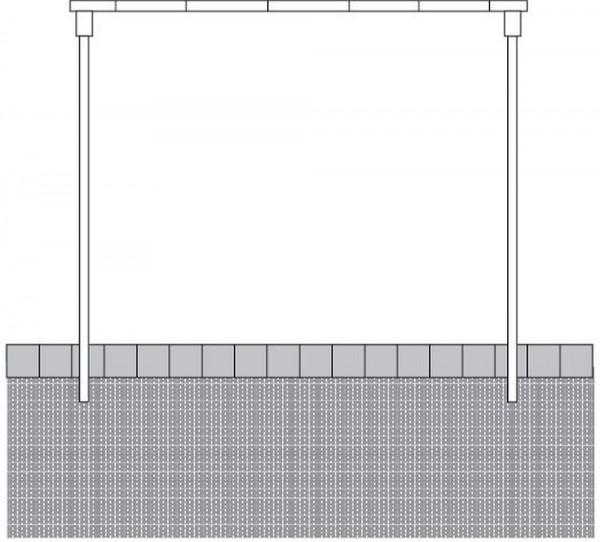 Teppichklopfgerüst aus 48 mm Stahlrohr Gerüst zum Teppich klopfen
