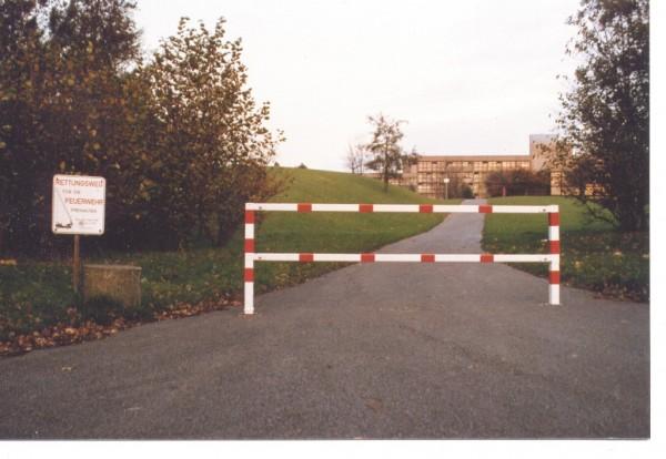 Wegesperre feststehend als Rahmen geschweißt Durchfahrtsperre