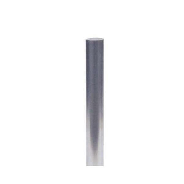 Edelstahlpfosten Ø102 geschliffen herausnehmbar mit Profilzylinder