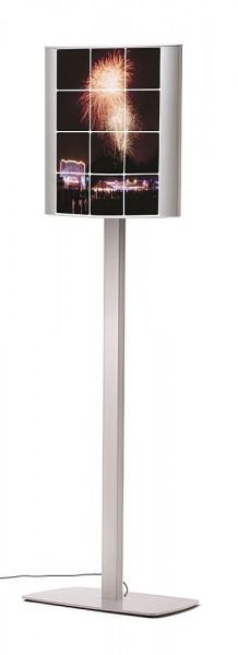 Plakatständer ARCUATO® doppelseitig gewölbt LED beleuchtet DIN A3