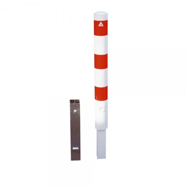 Absperrpfosten Ø 89 herausnehmbar mit Dreikantverschluß Stahlrohr