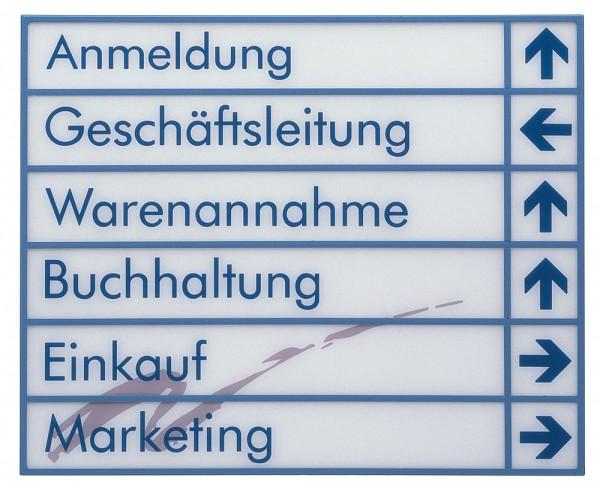 flexibler Wegweiser UNITEX W Schildersystem Größe groß u sehr groß