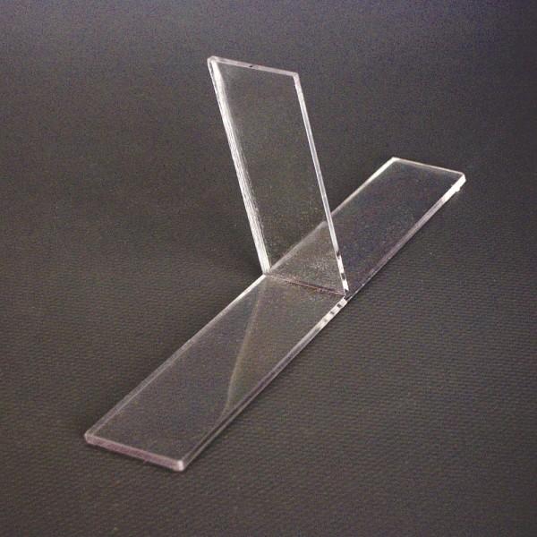 Trennsteg für DIN A4 Tischaufsteller, T-Unterteiler Prospekthalter