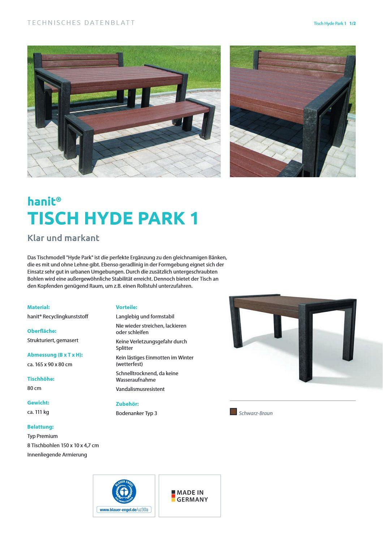 Tisch Hyde Park Recycling Kunststoff Gartentisch Aussen Amsdirekt