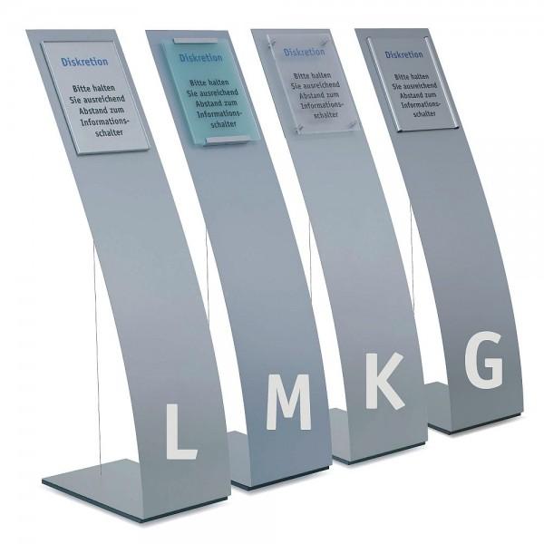 Infoständer Bodenständer Unitex P elegant mit A4 oder A3 Schild