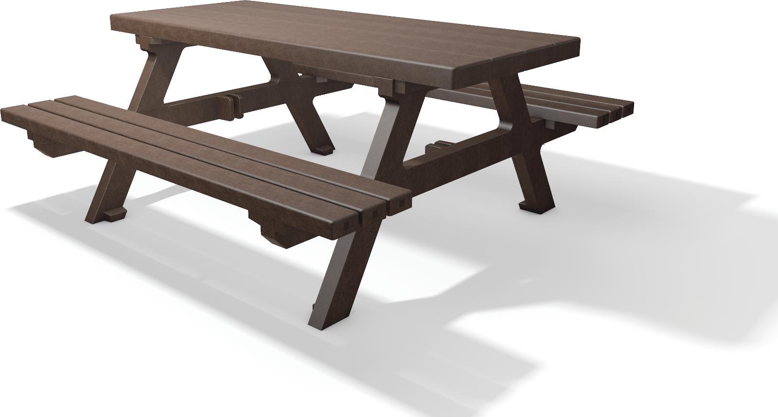 sitzgruppe isola recycling kunststoff bank tisch kombi amsdirekt. Black Bedroom Furniture Sets. Home Design Ideas