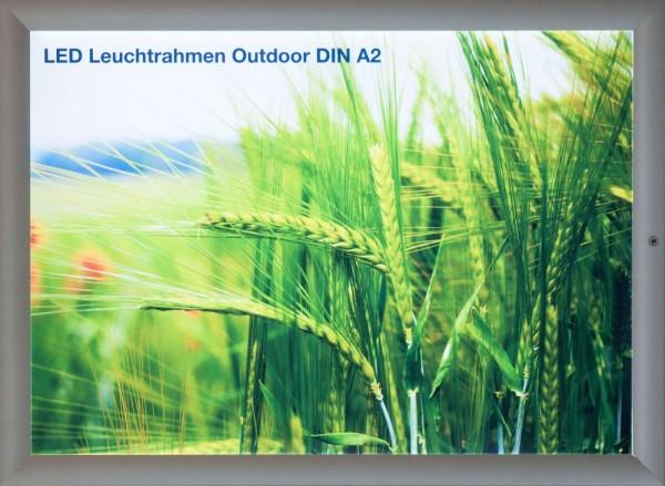 Leuchtrahmen Outdoor LED Rahmen mit 35mm breitem Profil für Aussen