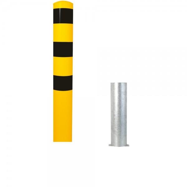 Stahlrohrpoller Ø 152 mm herausnehmbar Stahlpoller Werkschutz Poller