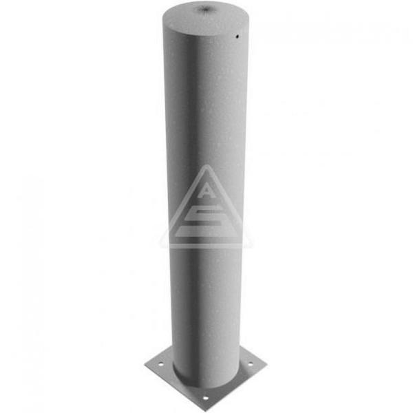 Stahlrohrpoller Ø 273 zum Aufdübeln mit Bodenplatte Poller 1500 mm