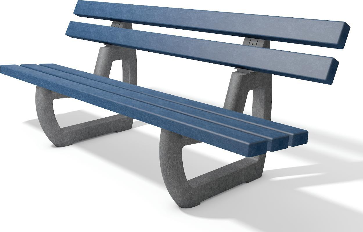 parkbank aus recyling kunststoff langlebige robuste bank amsdirekt. Black Bedroom Furniture Sets. Home Design Ideas