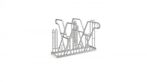 Fahrradständer 4600XBF Ständer zweiseitig ADFC Qualität hohe Bügel