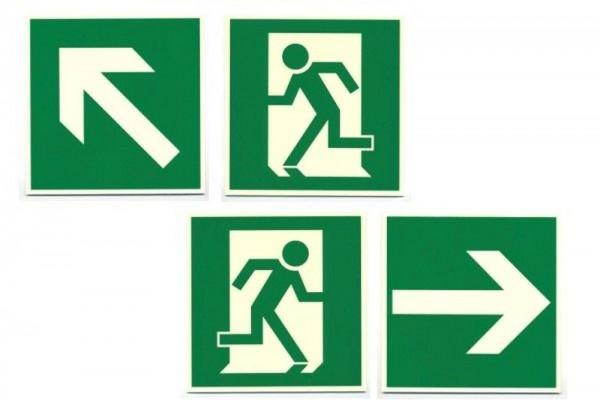 Fluchtwegschild Leuchtschild Laufrichtung oder Pfeil Fluchtweg