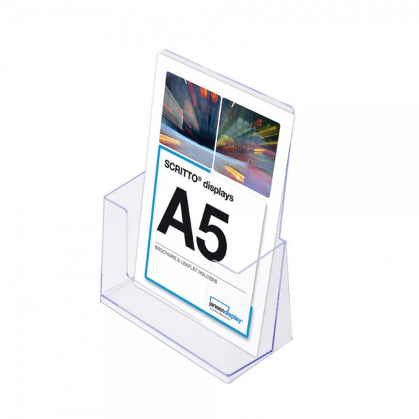 Prospekthalter SCRITTO® DIN A5 Halter Prospekte für Tisch o. Wand