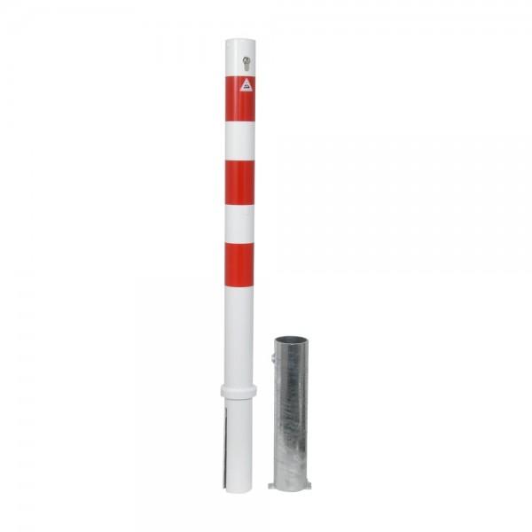 Absperrpfosten Sperrpfosten herausnehmbar Stahl Ø76 Profilzylinder