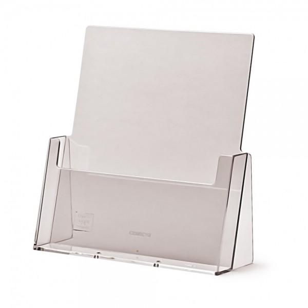 Tisch-Aufsteller für DIN A4 Flyer Prospekthalter Halter Spritzguss