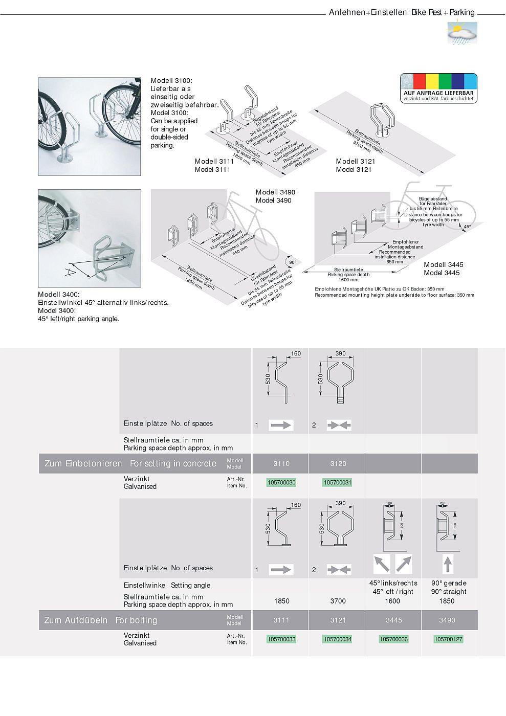 fahrradst nder einseitig oder zweiseitig befahrbar boden. Black Bedroom Furniture Sets. Home Design Ideas