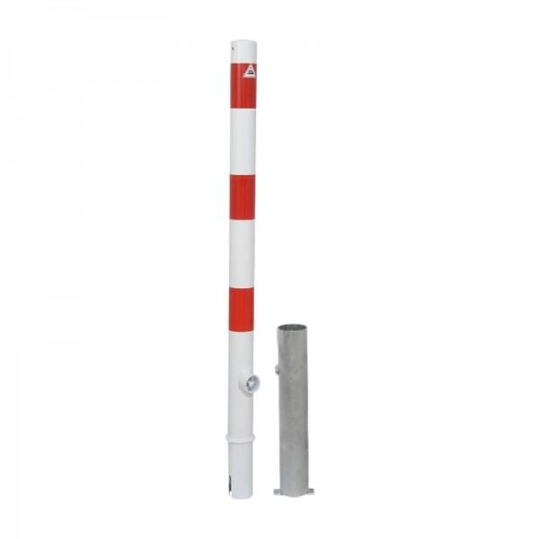 Absperrpfosten Ø 60 herausnehmbar mit Dreikantverschluß Stahlrohr