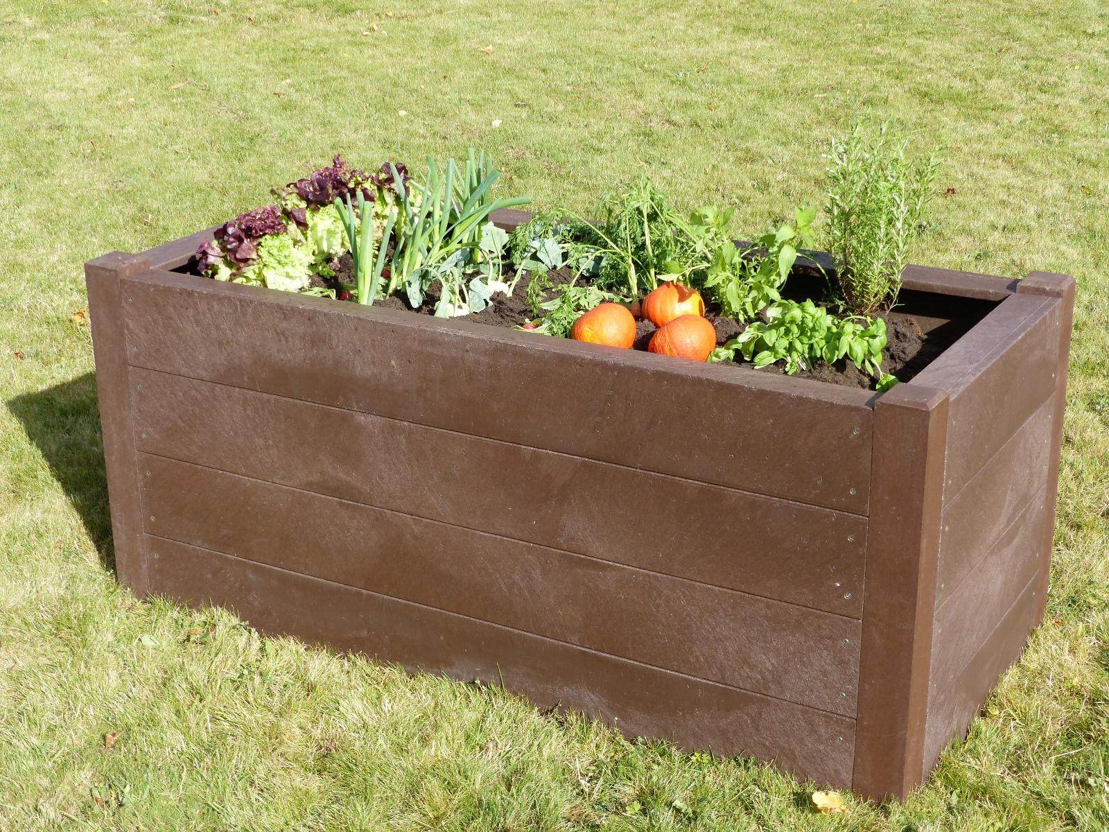 hochbeet f r kinder terra recycling kunststoff beet. Black Bedroom Furniture Sets. Home Design Ideas