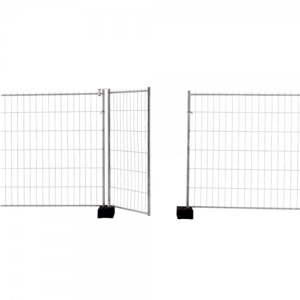 Bauzaun Standard Mobilzaun Element Feld Mobil Zaun für Baustellen