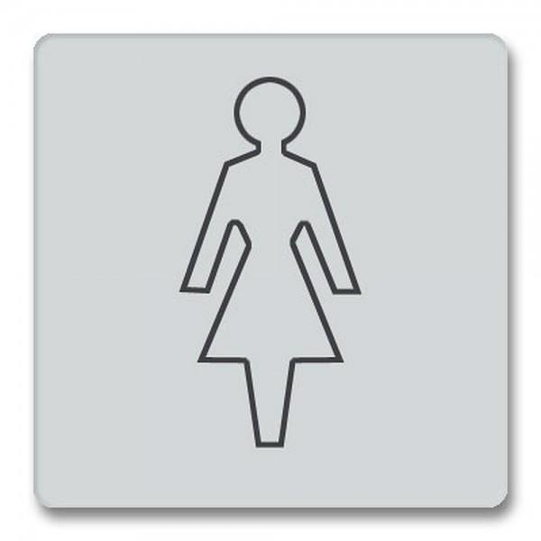 Piktogramm Damen Türschild Acryl internationales Bildzeichen WC