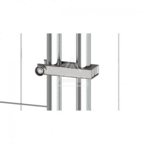 Bauzaunscharnier für den Einsatz bei Torelementen mobiler Zaun