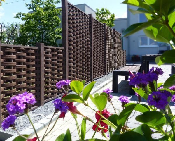 Flecht Sichtschutz Wand Element Flechtwerk Recycling Kunststoff