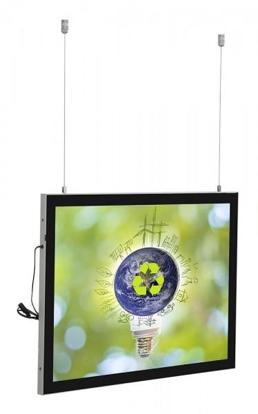 LED Magnetrahmen Economy doppelseitig Leuchtrahmen m. Passepartout