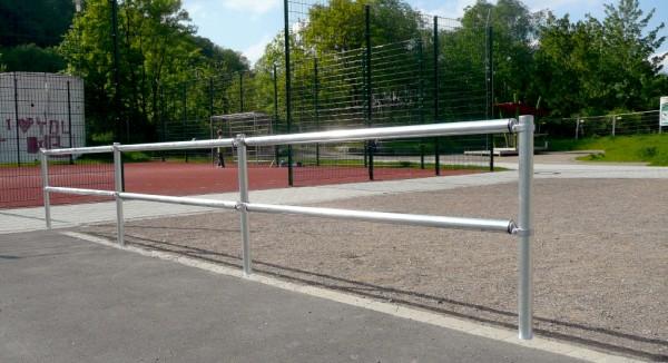 Barriere Verkehrsschutzgitter Sperrschutz aus Stahl Größe variabel