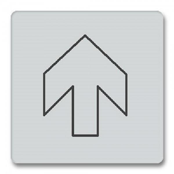 Piktogramm Pfeil gerade Türschild Acryl internationales Zeichen