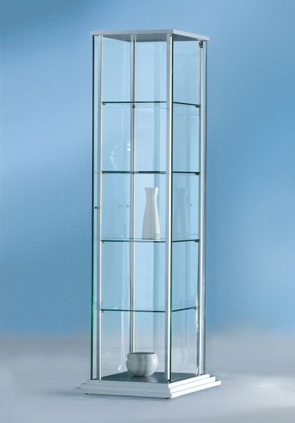 Vitrine FORUM mit Stufensockel Glasvitrine Standvitrine