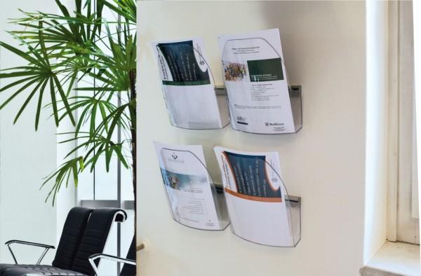 Abhängeschiene Wand Schiene für Einzelblätter oder Prospektboxen