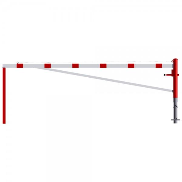 Schranke Drehschranke horizontal schwenbar mit Auflagepfosten