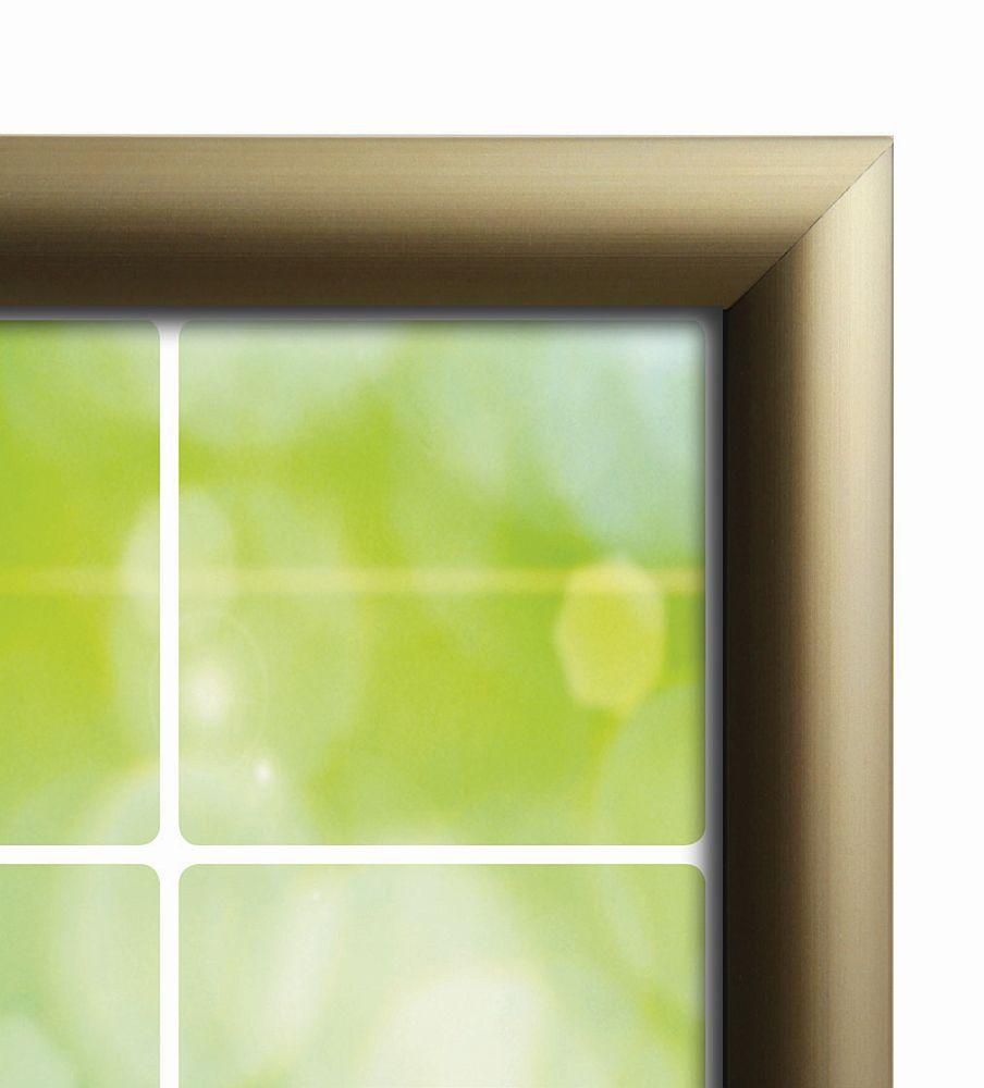 exklusiver Klapprahmen mit gewölbtem Gold Optik Profil | AMSDirekt