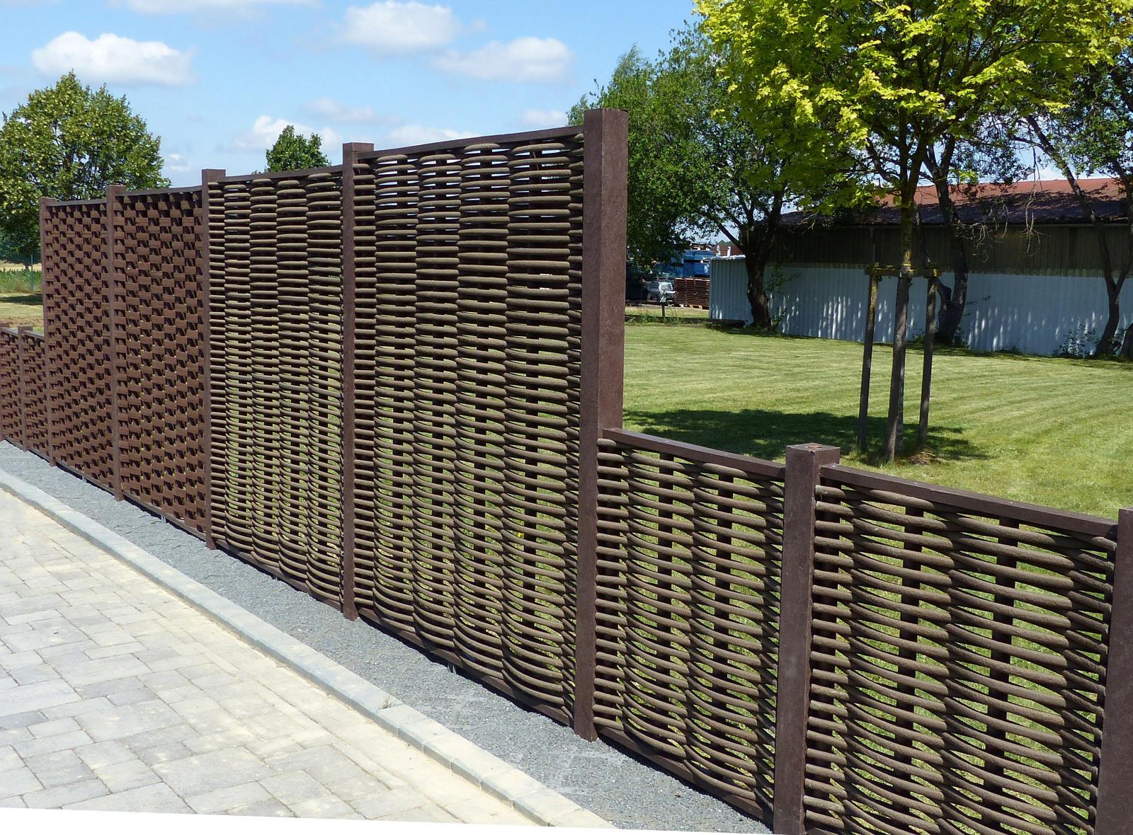 Flecht Sichtschutz Wand Element Recycling Kunststoff Amsdirekt