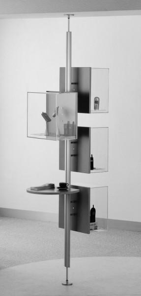 Verspannsäule Ständer Säule für VIEW Wandvitrine zur Raummontage