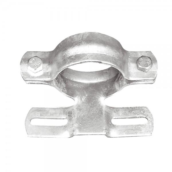 Rohrschelle für Ø 60 mm Schilderpfosten Rohrpfosten Stahlrohr