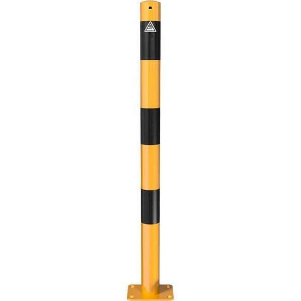 Absperrpfosten Ø60 Typ 460PBG gelb schwarz zum Aufdübeln