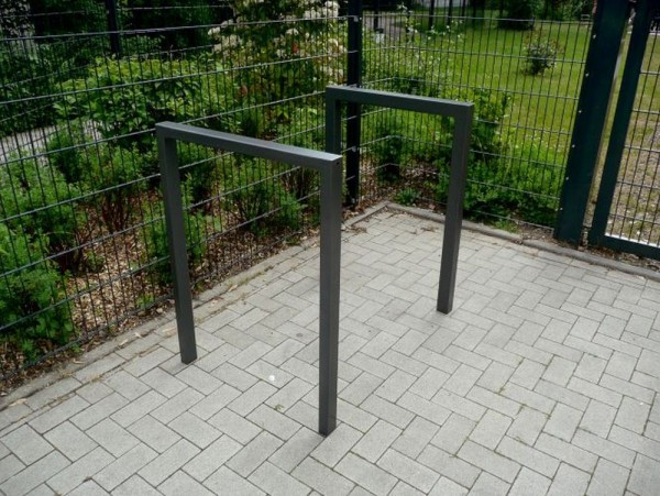 Fahrradständer Anlehnbügel 60 x 60 Stahl Rechteckrohr mit Querholm