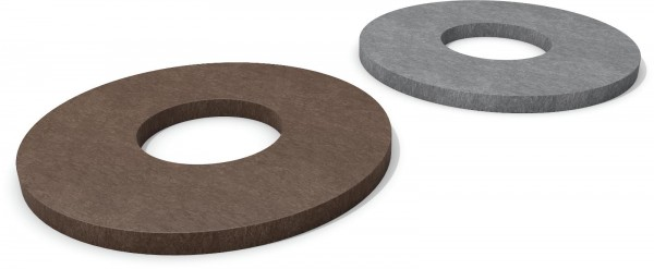 Bodenplatte für Halbkugelkopf Poller mit Ø 20 cm Recyclingkunststoff