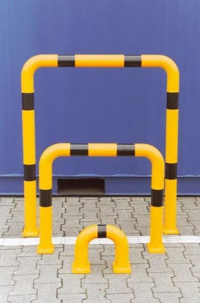 Rammschutzbügel Ø 76 mm Stahl gelb schwarz beschichtet Schutzbügel
