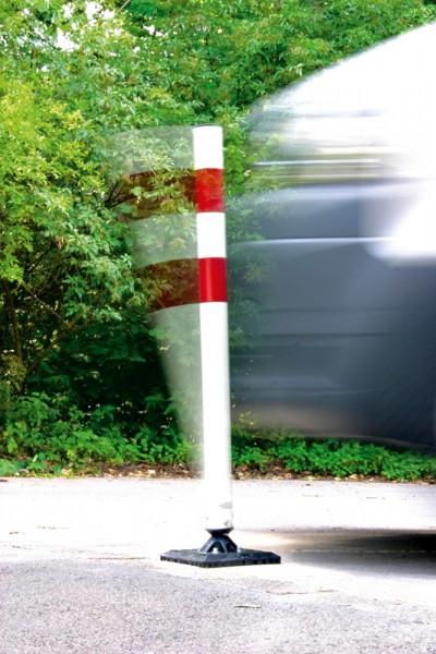 Kunststoffpfosten KICKBACK© Poller Ø60 zum Aufdübeln Qick Release